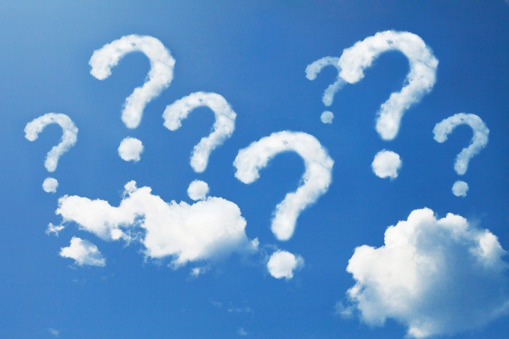 why trinity question marks in the sky with clouds